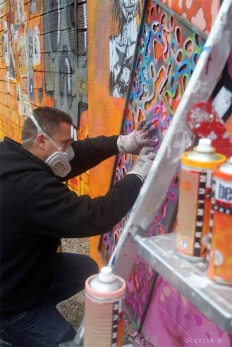 Basto abstract Spring mur Galerie Amarrage 06-2015 Saint-Ouen (FR)