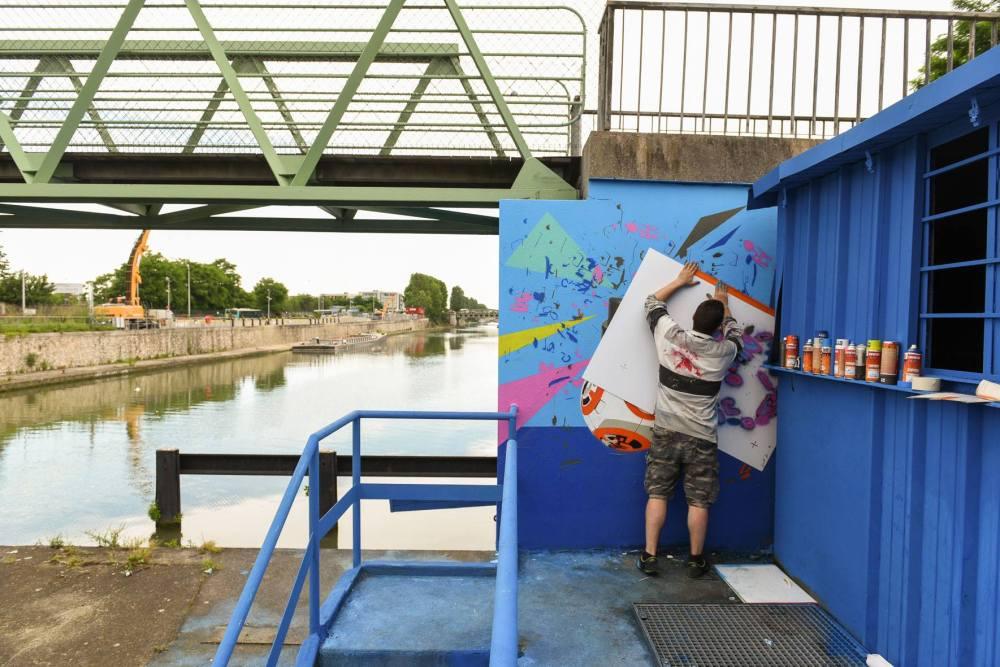 Basto live Painting Street Art Avenue 2 juin 2016 Auberviliers