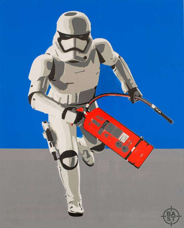 Basto toile #Bastrooper01 100 x 80 x 4 cm 2017 BD