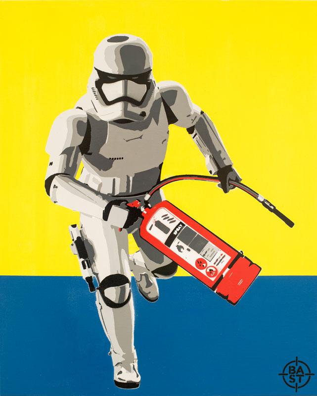 Basto toile #Bastrooper02 100 x 80 x 4 cm 2017 BD