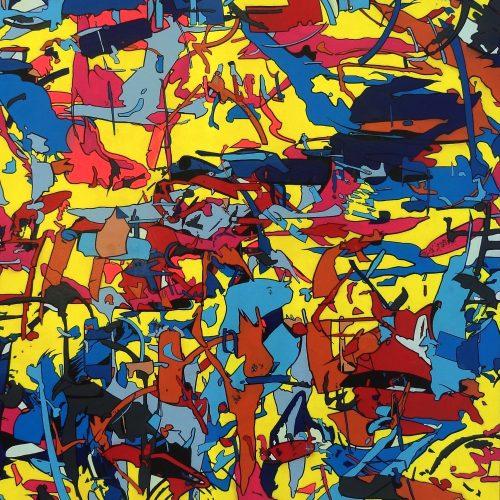 Basto toile #place-Thiar 80 x 100 x 8 cm 2017