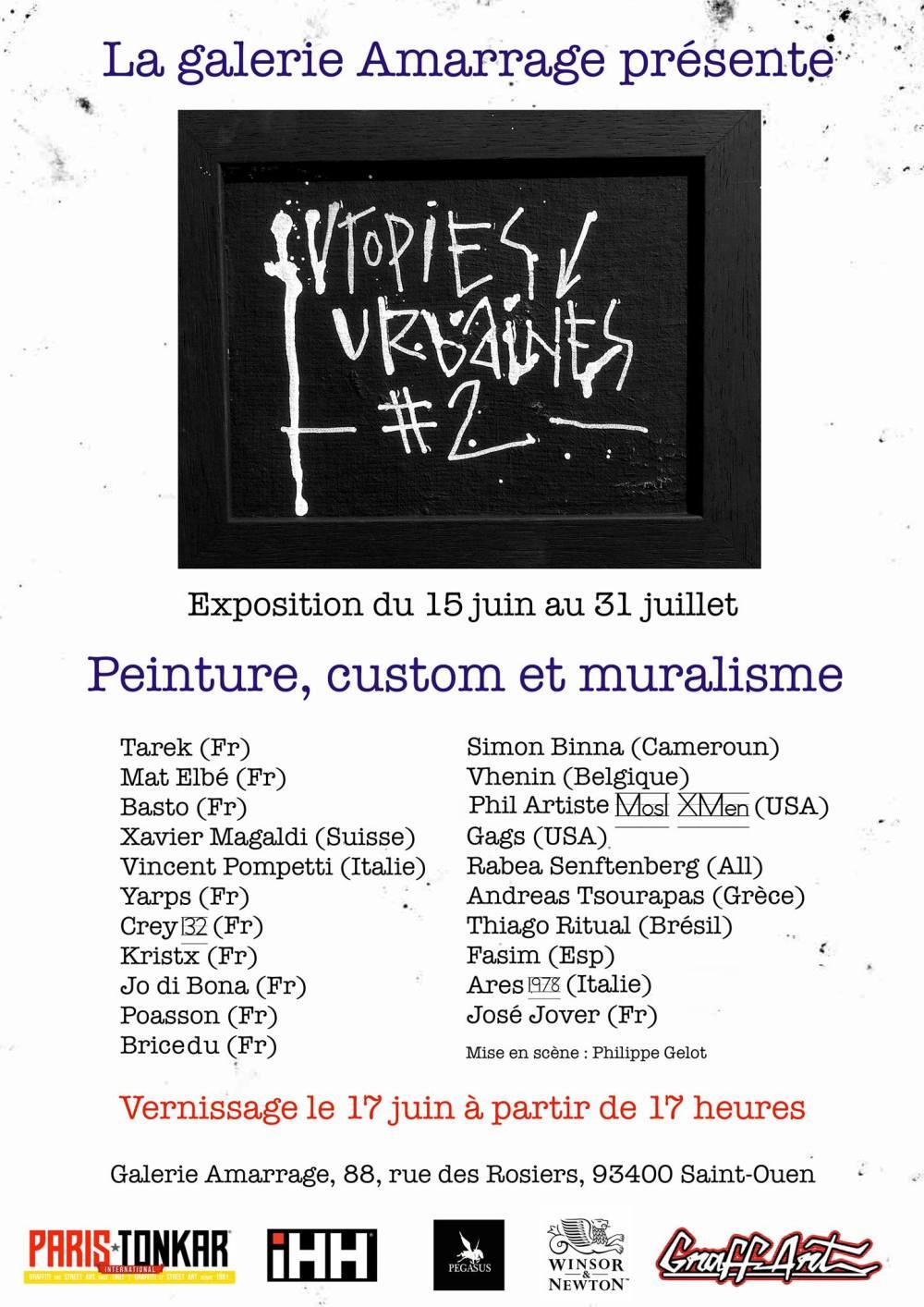 Utopies Urbaines #2 1506-3107-2017 Galerie Amarrage (FR)