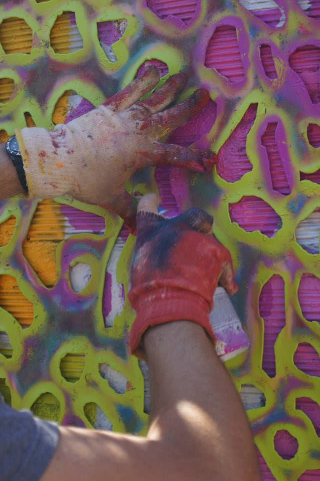 Basto abstract Spring zoom mur Galerie Amarrage 06-2015 Saint-Ouen (FR)
