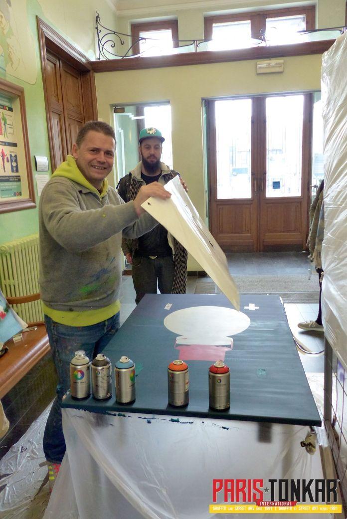 Live Painting Andenne 2 Belgique Spray Against Cancer